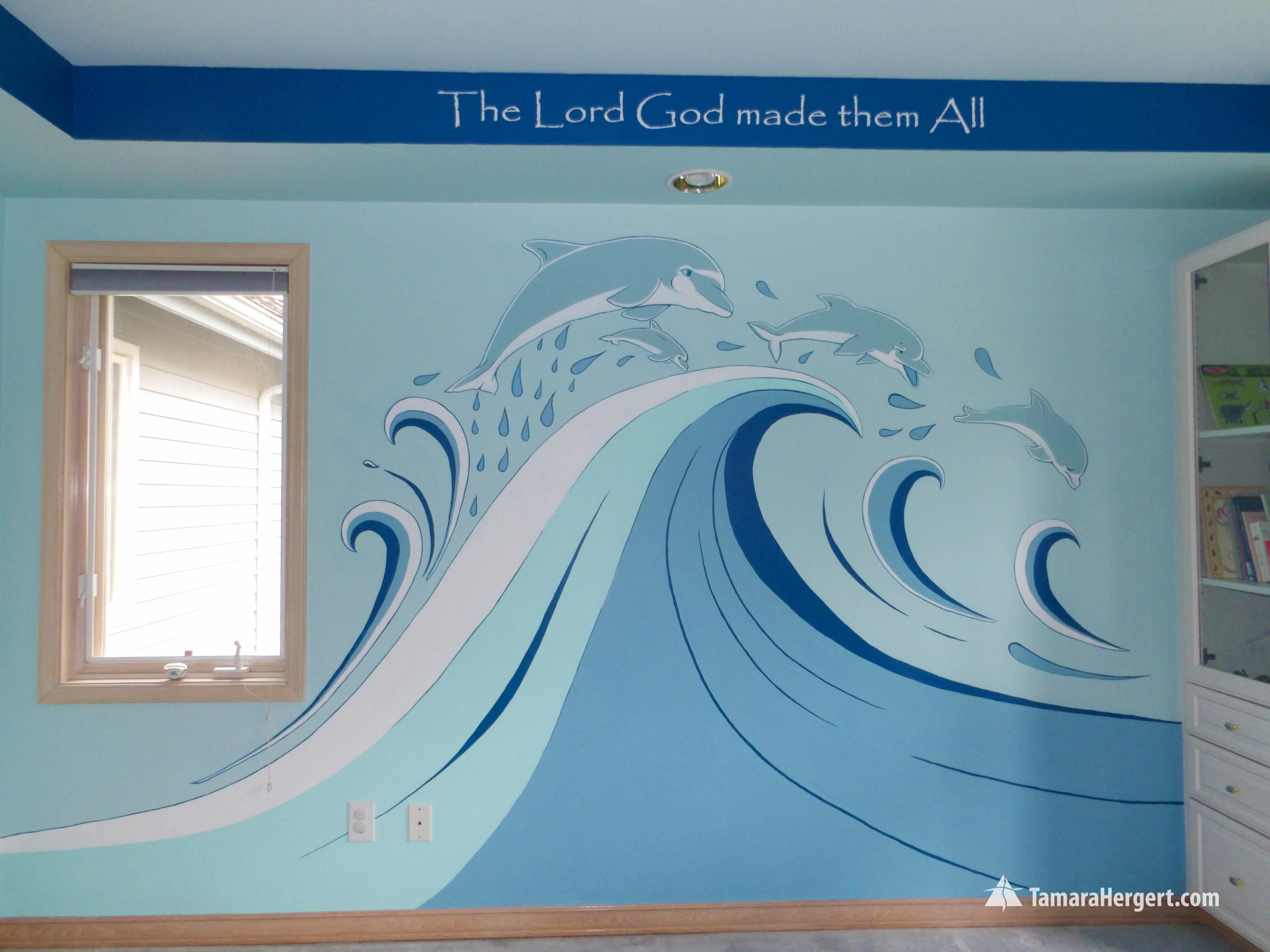 Sealife mural by Tamara Hergert 2