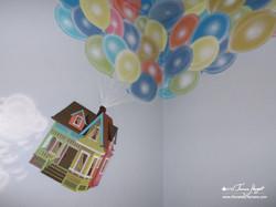 Up Pixar movie mural by Tamara Hergert - house2