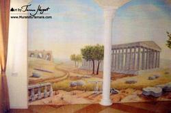 Ancient Greece mural by Tamara Hergert -
