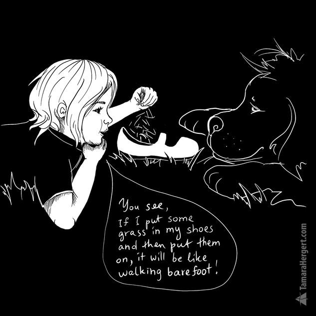 Big Paw comics by Tamara Hergert
