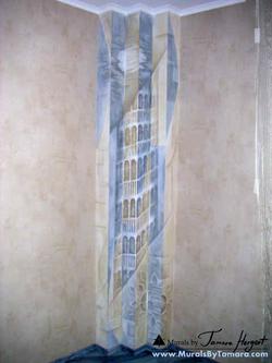 Romantic - esoteric - abstract - step corner mural by Tamara Hergert