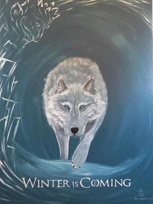 "Original ""Winter is coming"" acrylic painting by Tamara Hergert"