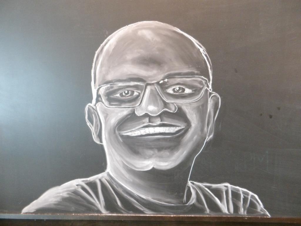 Chalk board mural by Tamara Hergert