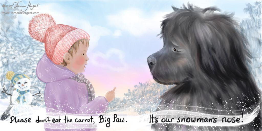 Big Paw and the first snow dummy book by Tamara Hergert