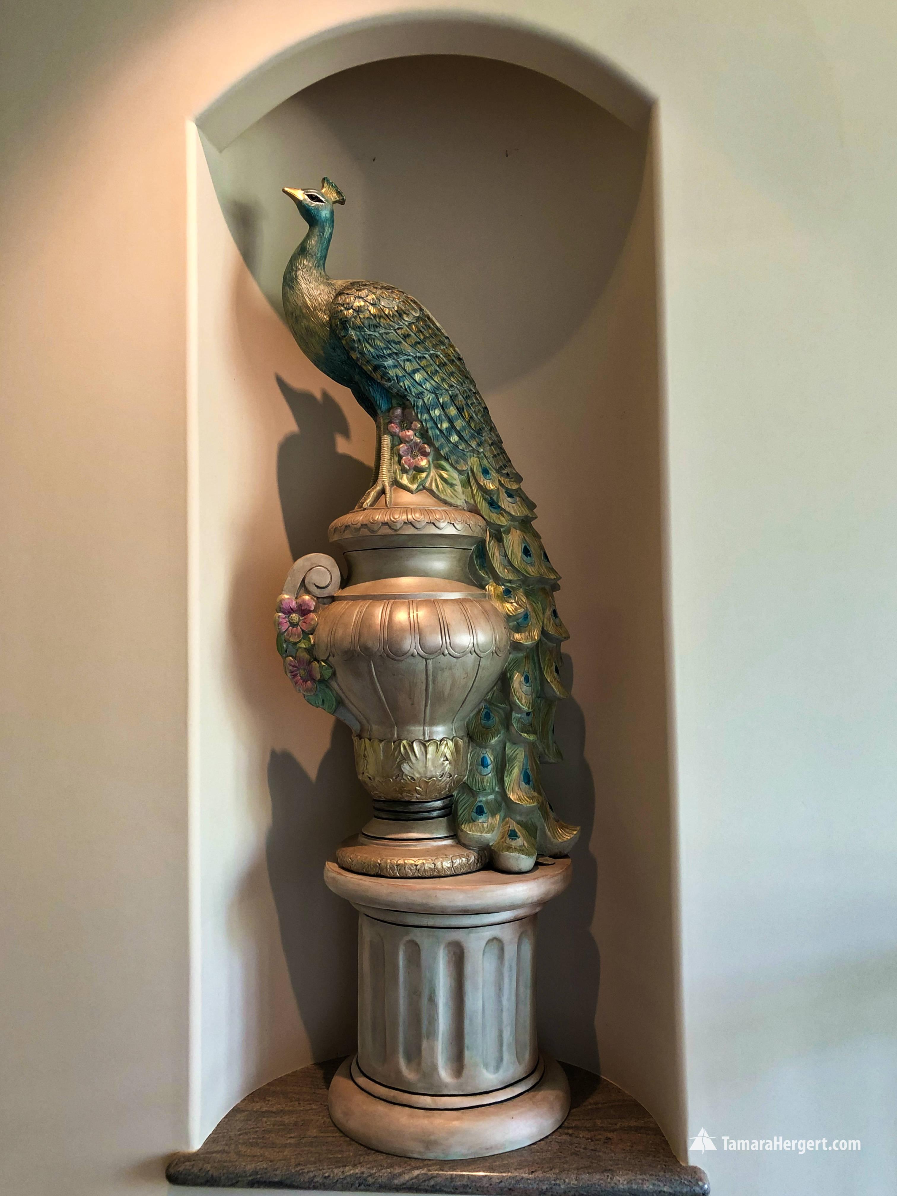 Peacock - Artistic finish by Tamara Herg
