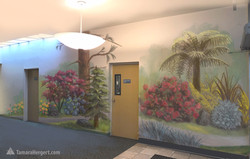 PNW Garden mural sketch