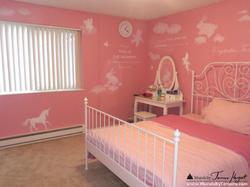 Pink Princess room mural - kids room mural by Tamara Hergert