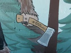 Axekickers mural by Tamara Hergert 2