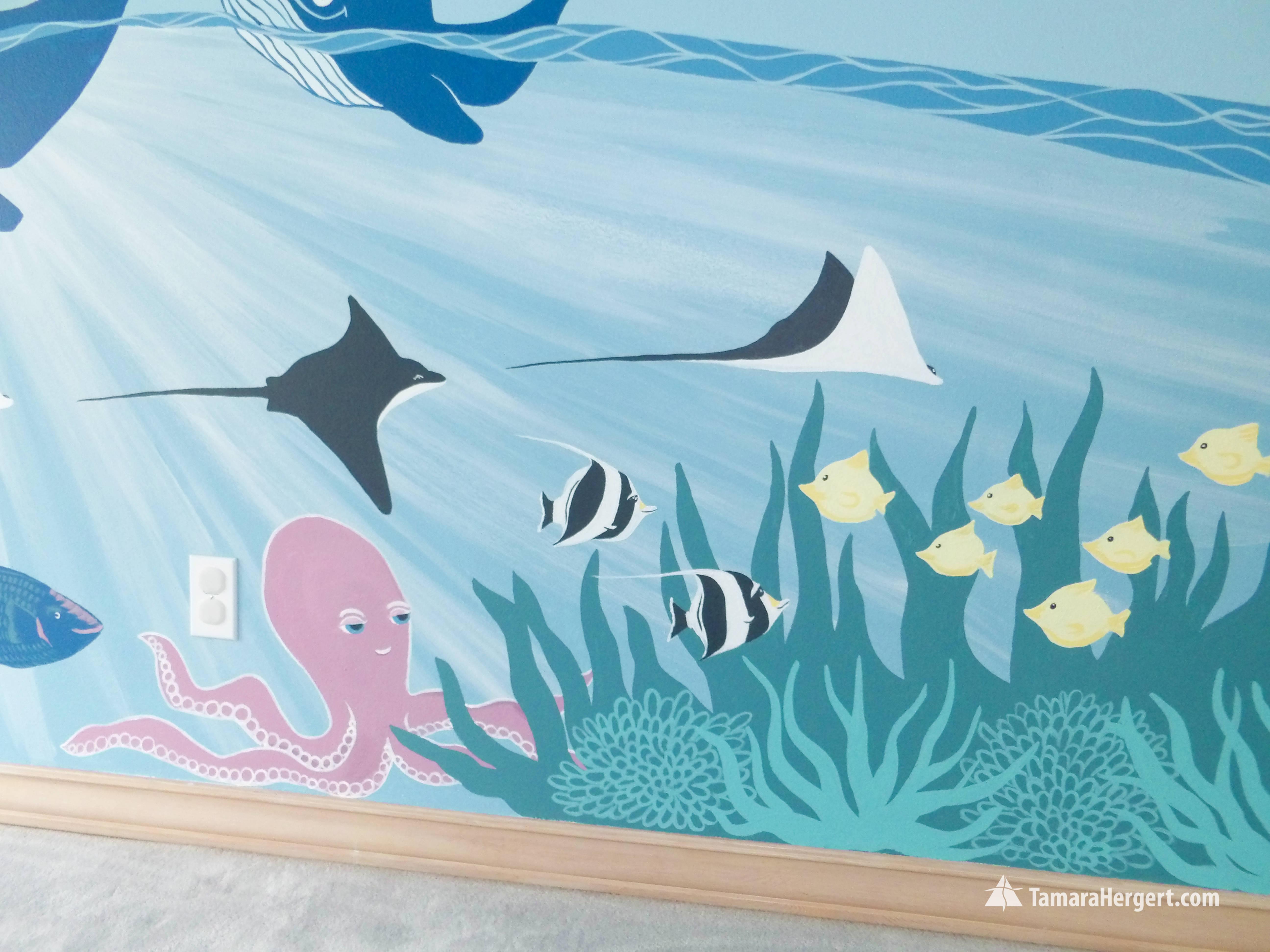 Sealife mural by Tamara Hergert 9
