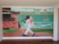 Red Sox fan, Fenway park, Green monster wall with David Ortiz - Big Papi - boy's room - sport fan mural by Tamara Hergert