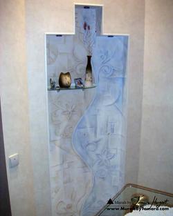 Romantic - esoteric - abstract - niche mural by Tamara Hergert