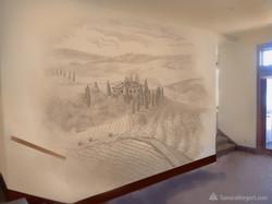 Tuscany subtle mural sketch 1