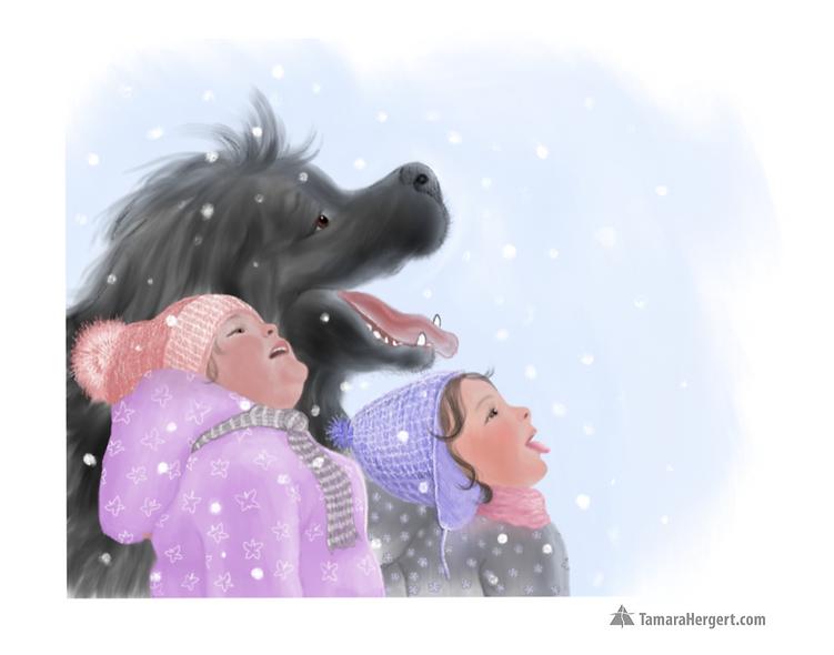Big Paw - illustration by Tamara Hergert
