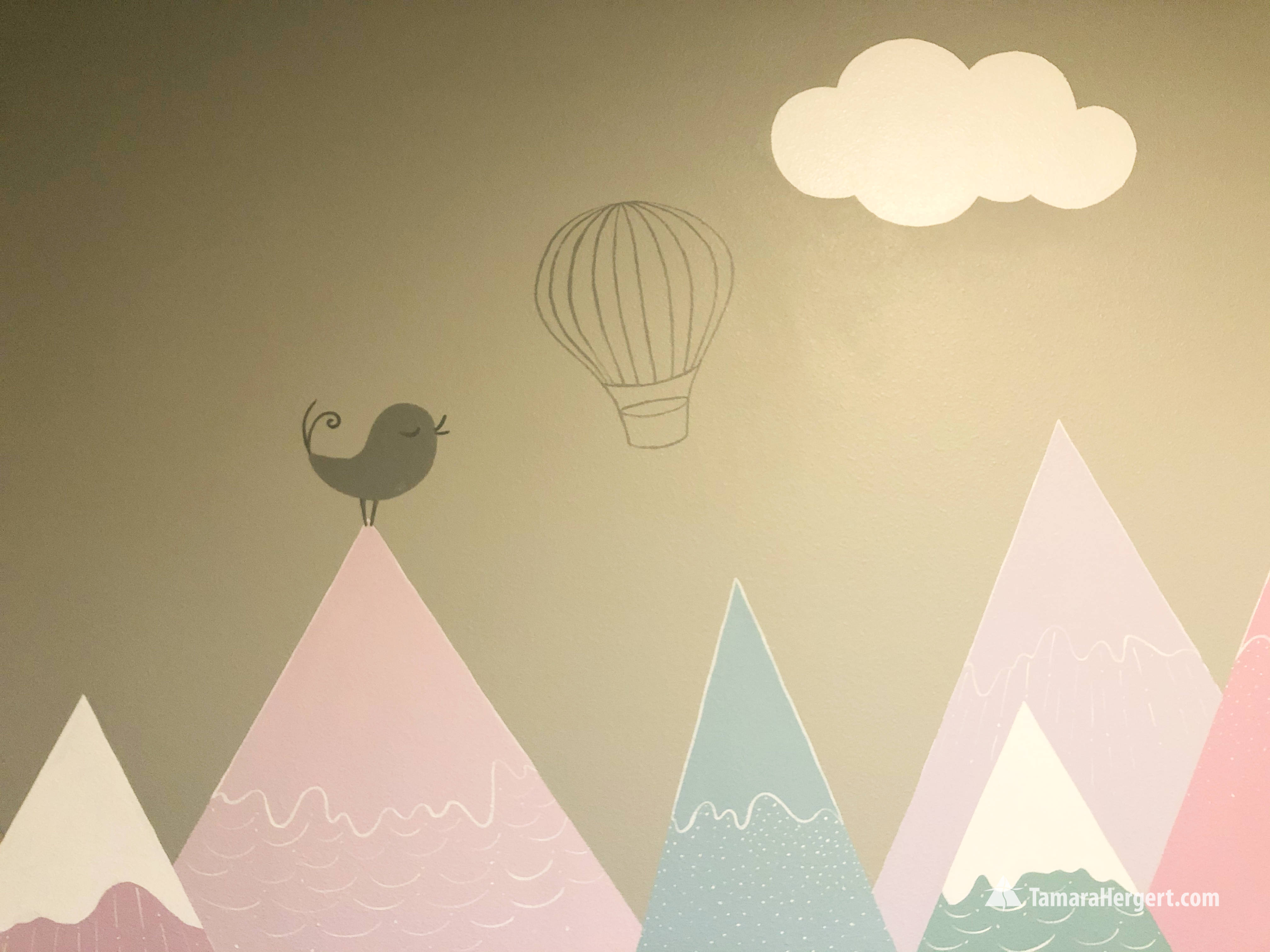 Modern Mountain tops mural by Tamara Her