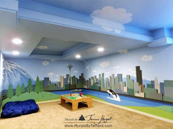 Mount Rainier - Downtown Seattle - mural by Tamara Hergert - corner view