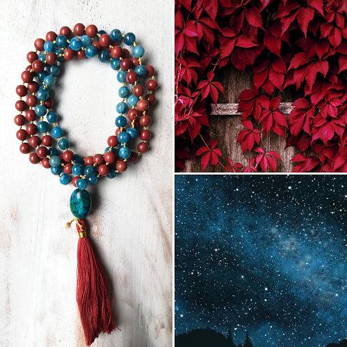 Amuleto di Apatite e Diaspro rosso