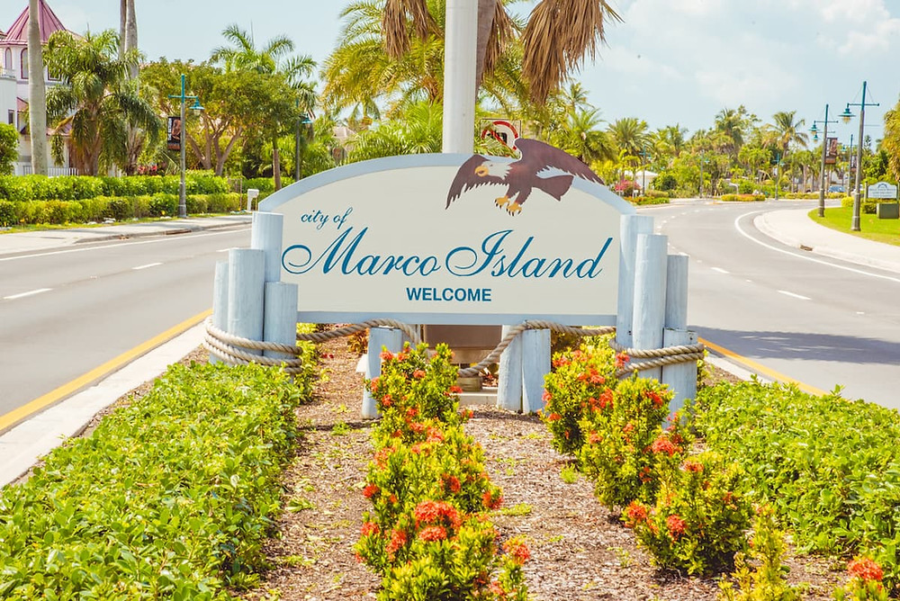 Marco Island Entrance Sign