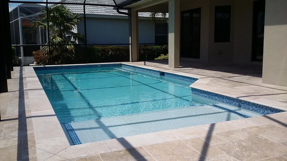 Marco Island custom home pool deck