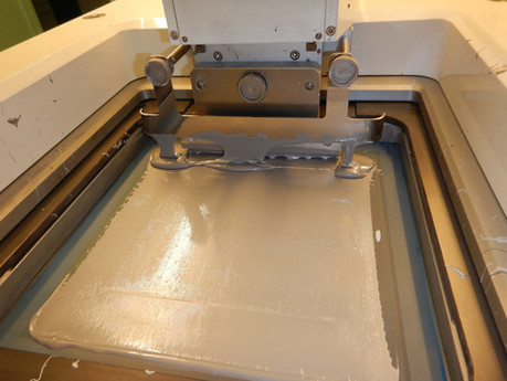 Screen printing of aluminum metallization on the back of the PV cell.
