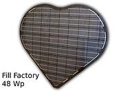 fotovoltaický modul tvar srdce