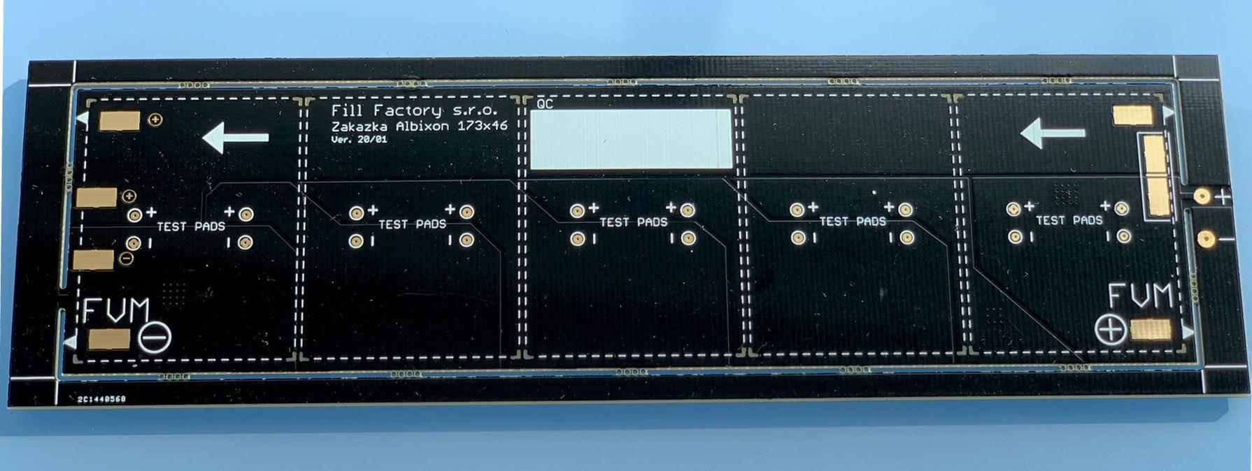 DPS pro minimodul. Zadní strana