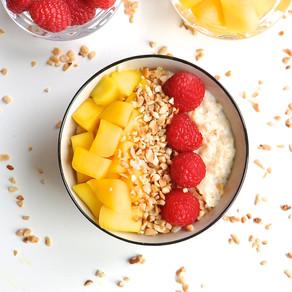 Almond Milk Porridge with Honey