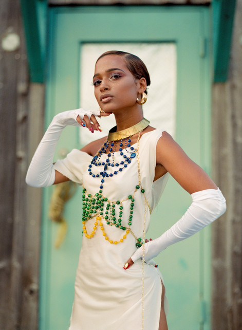 Model: Amber Leggett Stylist: Brandon Kafarela Designer: Bussant HMU: Claire Simmons Photo Assistant: Peter Phillips