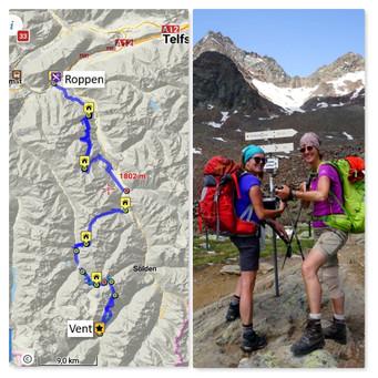 Das große Auf und Ab - 6 Tage Wandern rund ums Ötztal