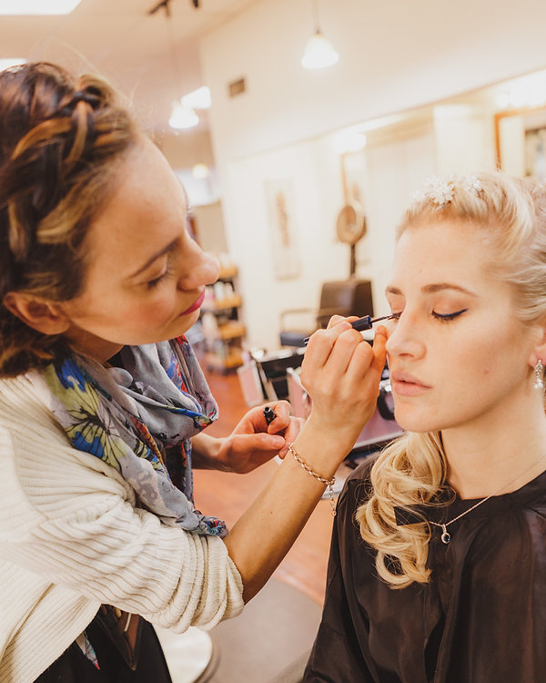Hairstyle & Makeup for a promotional photoshoot in Seabright, Midtown & Capitola, Santa Cruz