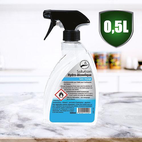 Solution Hydroalcoolique Liquide 0.5L - Spray