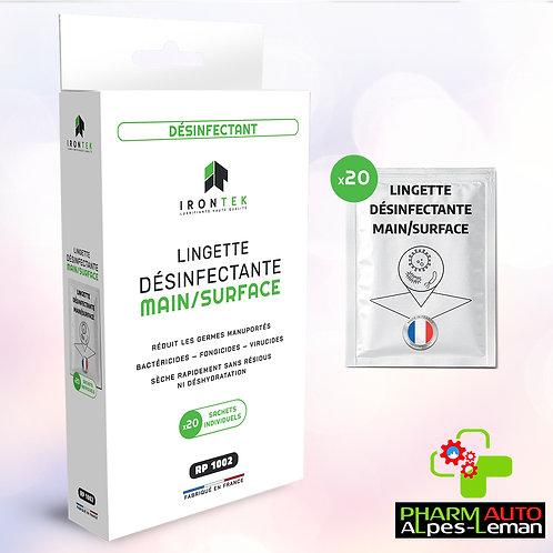 Lingette Desinfectante Main Et Surface X20