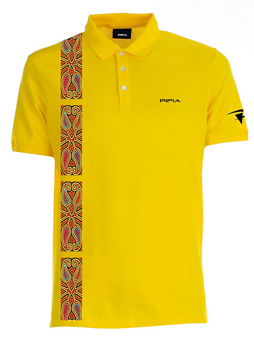 Men Polo with Mola strip
