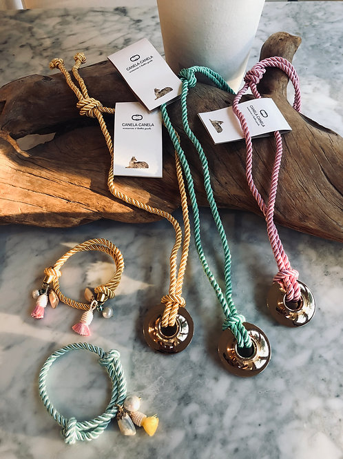 Rope pendant necklace