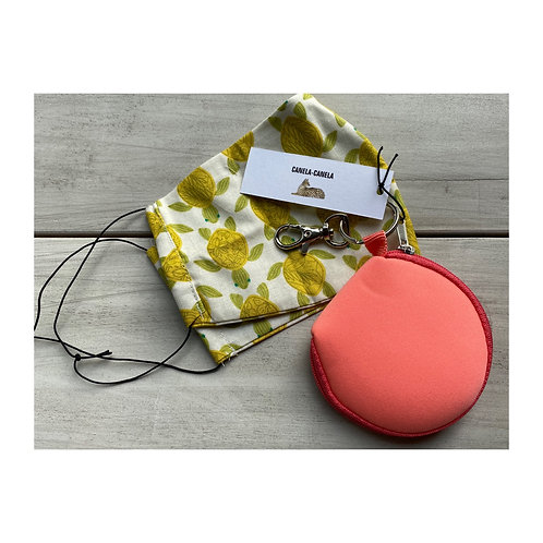 Cotton mask & pouch