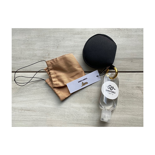 Cotton mask/pouch/hand sanitizer
