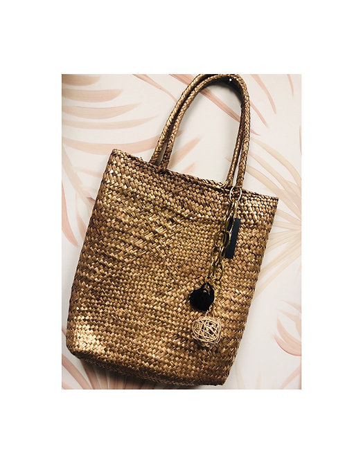 Golden Palma beach bag
