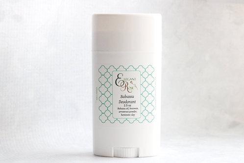 Unscented Deodorant, Babassu Deodorant, Coconut