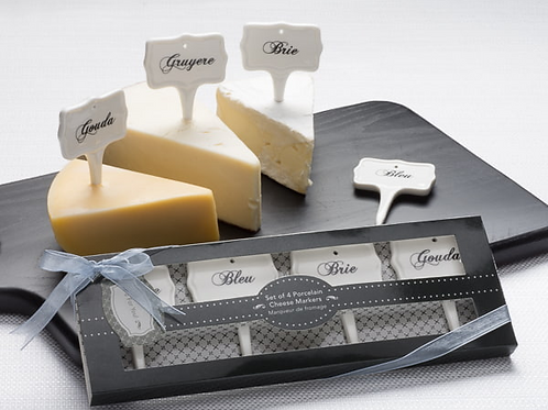 """""""Cinq à sept"""" Gourmet Cheese Markers (Set of 4) Party Favor"""