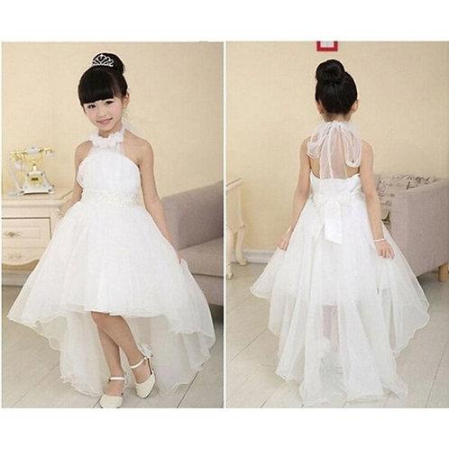 Girl White Wedding  Dress