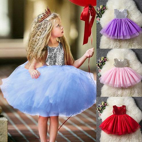 Princess Baby Girls Fancy Wedding Dress Sleeveless