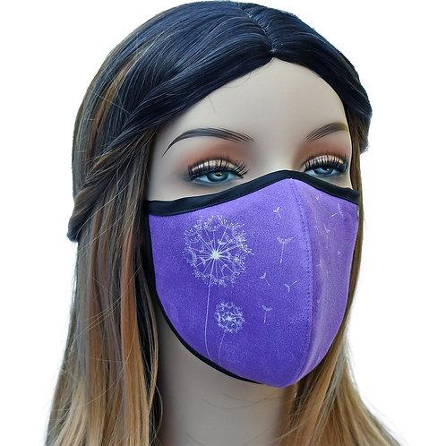 YaYmask USA Made Cloth Face Mask, High-Tech Fabric, Engineered Fit -Dream Purple