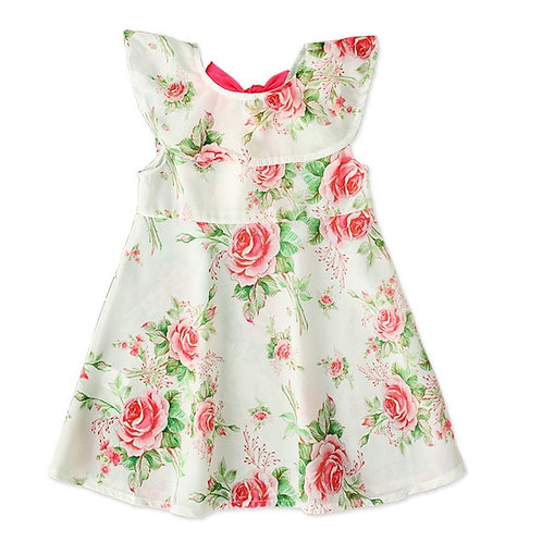 Summer Toddler Kids Baby Girls Dress Flower Print