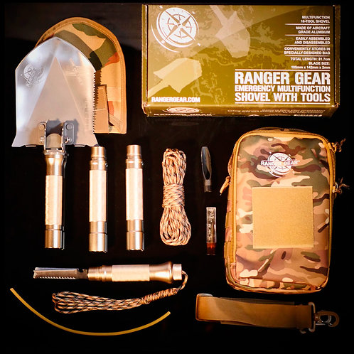 Ranger Gear Emergency Multifunction Shovel With Tools