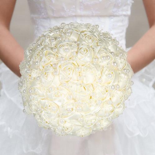 Bride Wedding Flowers 18cm Artificial Pearls
