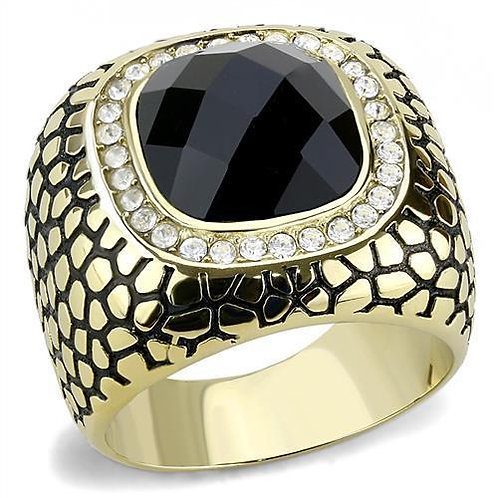 TK3221 IP Gold(Ion Plating) Stainless Steel Ring