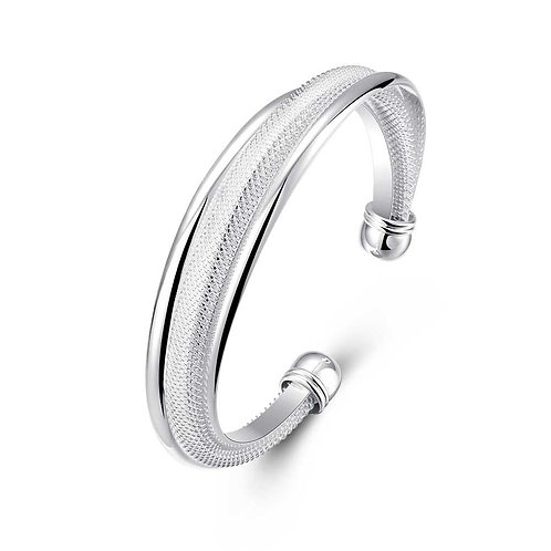 Saint Pierre Bangle in 18K White Gold Plated
