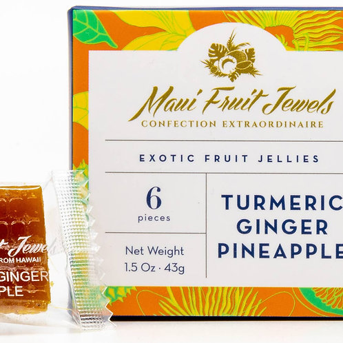 Maui  Fruit Jewels -Turmeric Ginger Pineapple Fruit Jelly
