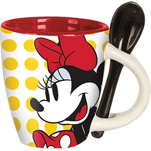 Minnie Classic Dots Espresso Cup with Spoon (Set of Four)