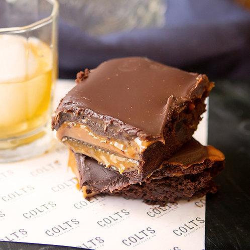 Whiskey Caramel Pecan Brownie