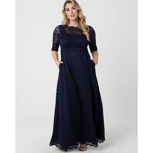 Leona Lace Gown Plus Size